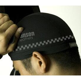 ヴァンソンレザース VANSON LEATHERS VS13607N ライディングインナーキャップ チェック ワンサイズ バイク用 オートバイ 帽子 ウェアアクセサリ