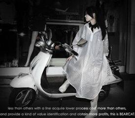 サイクルレインコート フリーサイズ レディース バイク 自転車用 レインウェア レインコート ポンチョ カッパ 雨具