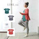 【メール便可】Limeincライム切替TシャツM〜L/服レディース女性大きいサイズ北欧洋服限定おしゃれファッションセール価格限定ナチュラルカジュアルクローバー02P09Jan16
