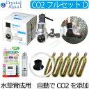 クリスタルアクア CO2フルセット Dタイプ 【自動CO2添加】(スピコン+電磁弁一体型CO2レギュレーター、タイマー他…