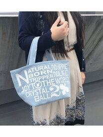 [Rakuten BRAND AVENUE]JOY Denim Tote Bag CRYSTAL BALL クリスタルボール バッグ【送料無料】