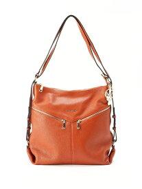 [Rakuten Fashion]GALSIA MARKEZ 3way leather bag GALSIA MARKEZ クリスタルボール バッグ ショルダーバッグ ブラウン ネイビー【送料無料】