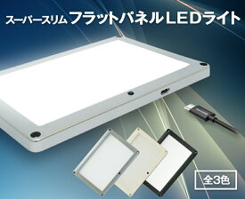 USB電源式 スーパースリムフラットパネルLEDライト 汎用 面発光LEDランプ AC100V電源もOK キッチン照明 キッチンライト 食器棚照明 キッチン用品