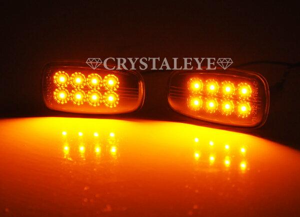 クリスタルアイ200系ランクル用 クリスタルLEDサイドマーカー4色から選択可能