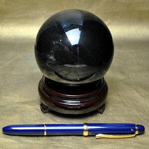 【81mm 丸玉】ロシア産<最高品質>モリオン球 (重さ735g) 完全天然石・無着色(木製台座付き)完全天然 無着色のモリオン球を限定入荷(写真現品のみ)