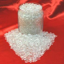 【ハイクォリティー 完全天然本水晶】<小粒>さざれ水晶(透明度の高い高品質水晶のさざれ石)1kgパック(3〜8mm小粒サイズ ブラジル産)