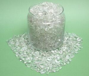 【ブラジル産完全天然石】中粒サイズさざれ水晶(水晶工房スタンダード)1kgパック