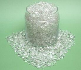 【人工加工をしていない完全天然のブラジル産本水晶】中粒サイズ さざれ水晶(水晶工房スタンダード・5〜15mmサイズ さざれ石)たっぷり1kgパック