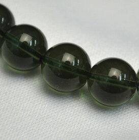 10mm玉 モルダバイト (単品) 【チェコ産 最高品質クラス】