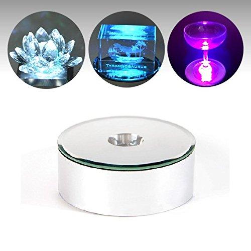 新型LEDチップ搭載 無回転ライトステージ(76mm)ハーバリウム展示にもピッタリです。 ハーバリウム展示にピッタリ LED台座 ハーバリウムライト ライトコースター