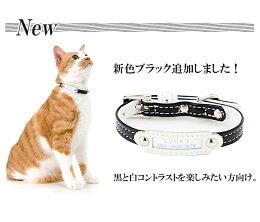 猫の首輪ホワイトベーシック10mm幅首輪迷子札付き猫首輪(猫、小型犬用/3kg以内推奨)ねこくびわ犬首輪【楽ギフ_包装】【RCP】