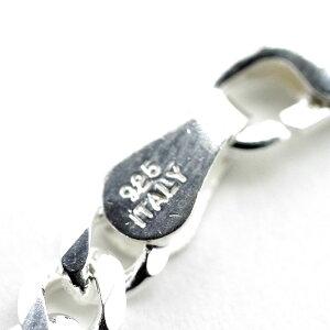 イタリアンシルバー925喜平ネックレス[銀色6面カット幅3mm][50cm]メンズbo細目キヘイチェーン