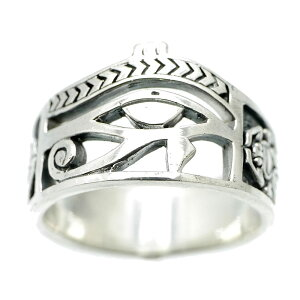 シルバー925ホルスの目リングメンズa2[13号16号18号](指輪ラーの目右目エジプト神話プロビデンスの目フリーメイソンシルバーアクセサリー)