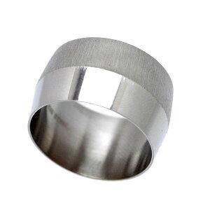 ステンレス 2トーン リング 鏡面/艶消し メンズ m2 [19号 22号] (指輪 シンプル プレーン マット)