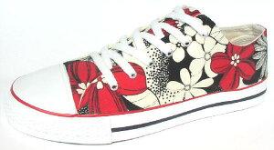 【赤い花】●ビーチサンダルのように夏の海辺で履きたいスニーカーです!