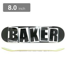 BAKER DECK ベイカー デッキ TEAM BRAND LOGO BLACK/WHITE 8.0 スケートボード スケボー SKATEBOARD