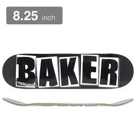 BAKER DECK ベイカー デッキ TEAM BRAND LOGO BLACK/WHITE 8.25 スケートボード スケボー SKATEBOARD