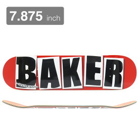 BAKER DECK ベイカー デッキ TEAM BRAND LOGO RED/BLACK 7.875 スケートボード スケボー SKATEBOARD