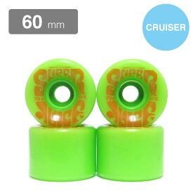 クルージング用 OJ SOFT WHEEL オージェー ソフトウィール SUPER JUICE 緑 60mm スケートボード スケボー