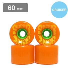 クルージング用 OJ SOFT WHEEL オージェー ソフトウィール SUPER JUICE CITRUS オレンジ 60mm スケートボード スケボー SKATEBOARD