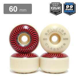 SPITFIRE WHEEL スピットファイヤー ウィール FORMULA FOUR (F4) CLASSIC 99D RED/BRONZE 60mm スケートボード スケボー SKATEBOARD