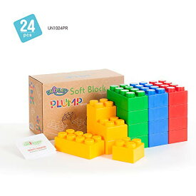 UNiPLAY Jumbo Multicolor Soft Building Blocks Plump Series 2 Different Sizes of Blocks For Ages 3 Months & Up Developme