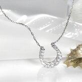 PT9000.5ctダイヤモンドネックレス【馬蹄】【送料無料】【ダイヤ】【RCP】【楽ギフ_包装】