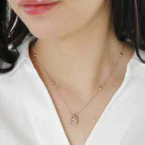 Pt900/K18YGダイヤモンド・マルチカラーサファイアリバーシブルネックレス
