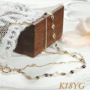 K18YG/WG ゴールド デザインチェーンブレスレット【送料無料】ゴールドブレス 二連ブレスレット チェーンブレス 可愛いブレスレット 新作 人気 ブレス 腕輪 人気 おしゃれ ギフト クリスマス
