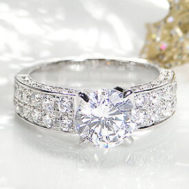 ☆pt900 中石大粒1.5カラット【H-SI2-Good】ダイヤモンド リング【2.5ct】/【鑑定書付】【送料無料】【刻印無料】1.5カラット プラチナ リング 1粒ダイヤ ダイア 指輪 ジュエリー プレゼント 結婚 diamond bridal ring jewelry【楽ギフ_包装】