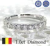pt950ハートアンドキューピッド1.0ctダイヤモンドエタニティリング