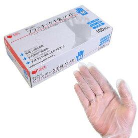 とっても便利な左右兼用タイプ!! −プラスティック手袋ソフト 100枚入り(S・Mサイズより選択...)− 看護・介護現場の声から生まれました(p_-) 【消費税込み】【セール対象商品】