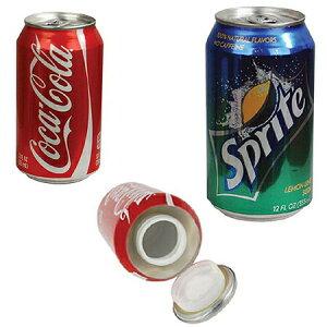 【今だけ送料無料!!】本物の缶で作られた(セーフティーボックス・隠し金庫) −セーフ缶・隠し金庫(スプライト・コカコーラより選択...)− 大切な物を隠すのにオススメなアイテム(^