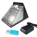 2014年春製LEDライト15灯搭載動体検知機能付きソーラー充電式防犯カメラすぐに使えるメモリー(4〜32GB)設置してのセット販売も可能