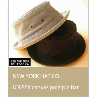 紐約的帽子有限公司男女通用帆布豬肉餅帽子共 2 個色板 ★ 紐約帽子男女通用帆布豬肉餅帽子 2 色