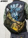 和柄 AVIREX バッグ ショルダー バナナショルダー 春物 春 メンズ レディース ユニセックス 黒 ブラック 黄色 イエロー カモフラ METHOD 流儀圧搾【AVIREX】DANTE2 2WAY SHOULDER BAG