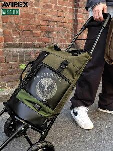 【AVIREX】 SHOPPING CART 〔LIMITED〕 ∴ | バッグ トート リュック キャリーバッグ カート 鞄 かばん 通販 メンズ レディース ユニセックス グレー 黒 ブラック 大きめ たっぷり 人気 アビレックス
