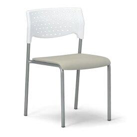 会議用チェア4脚セット パイプ椅子 粉体塗装脚 肘掛なし MC-201WG