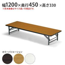 会議用テーブル 折りたたみテーブル 会議テーブル 座卓 幅1200×奥行450 【個人宅不可】 (品番:TZ-1245SE)