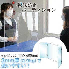 飛沫防止 感染症予防 アクリルパネル 透明パネル パーティション 打合せ 馬印 国内生産 (品番:AP-140)