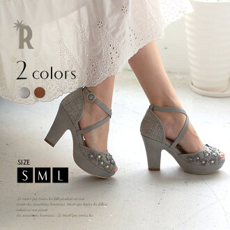 Adult feminine sandals ☆ floret motif sandals (PCM3101)fs3gm