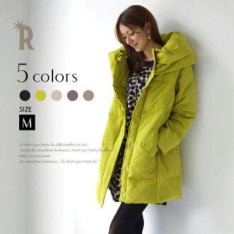 [SALE] *Neck long down coat (711007) / rial cube Lady's coat / falls softly and coats REAL CUBE