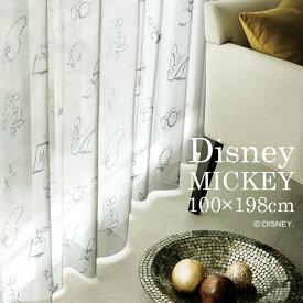 [P10倍 2/16 13:59迄]レース カーテン MICKEY ミッキー アクセサリー 幅100×丈198cm 1枚入 ミニーちゃん 女の子 かわいい おしゃれ シンプル ディズニー Disney7 □ スミノエ Disneyzone [NS]