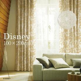 遮光カーテン MICKEY/ミッキー ブロードリーフ 幅100×丈200cm 1枚入ディズニー Disney5□ リーフ柄とミッキーシルエットのナチュラルモダンな遮光カーテン。スミノエ 日本製 洗える ※イージーオーダー可 [別ページ]  おしゃれ オーダー オーダーカーテン[P] Disneyzone