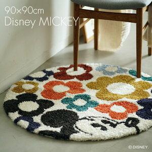 Mickey/ミッキー ハイドインフラワーラグ DRM...