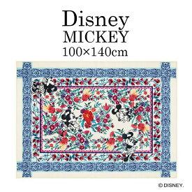 ディズニー ラグ Mickey ミッキー ロイヤルガーデンDRM-1060 100×140cm Disney7◆ミニー かわいい おしゃれ 花柄 ブルー レッド 子供部屋 インテリア ラグマット スミノエ床暖房・ホットカーペット対応 耐熱 100 140 リビング [100_140][NS] Disneyzone