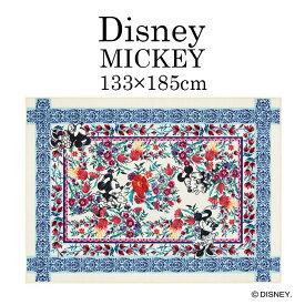Mickey/ミッキー ロイヤルガーデンラグ DRM-1060 133×185cm ディズニー Disney7◆ミニー かわいい おしゃれ エレガント 花柄 ブルー レッド 子供部屋 インテリア ラグ ラグマット スミノエ床暖房・ホットカーペット対応 耐熱 133 185 リビング [133_185][NS] Disneyzone