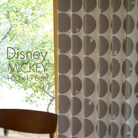 ディズニー 遮光 カーテン MICKEY/ミッキー スコープ 幅100×丈178cm 1枚入ラック ベージュ ブラウン 北欧 ドット Disney7□スミノエ Disneyzone[NS]