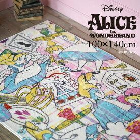 ディズニー 不思議の国のアリス Alice ストーリー ラグ DRA-1064 100×140cm Disney 7◆ふしぎの国のアリス カラフル 子供部屋 かわいい おしゃれ スミノエ 防炎 床暖房・ホットカーペット対応 耐熱 遊び毛防止 100 140 スミノエ ピンク [NS] Disneyzone