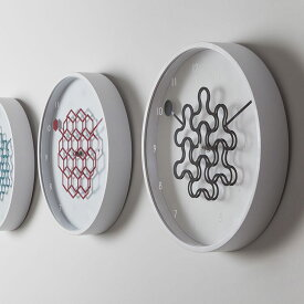 イケックス 北欧 タングルクロック(アイビーブラック) 掛け時計 27cm 丸型 幾何学模様 壁掛け おしゃれ シンプル 時計 とけい THIK20SS■ イケックス ※メーカー直送品